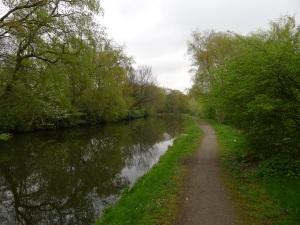 ... und ohne traffic am bridgewater canal entlang