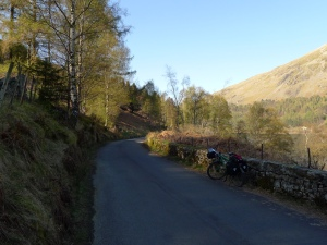 perfekte bike lane rund um harrop tarn