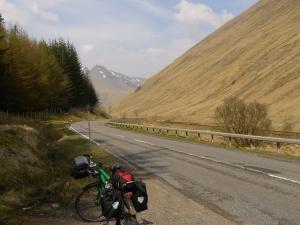 dann weiter auf der a82 richtung highlands...