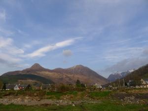 blick zurück aus glencoe village