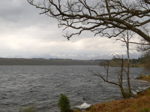loch lochy, viel gegenwind heute...