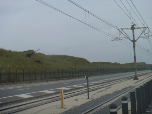 Atlantikwall im Nieselregen