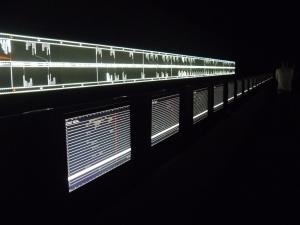 Installation 'Supersymmetry' von Ryoji Ikeda
