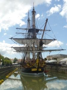 Segelschiff in Rochefort