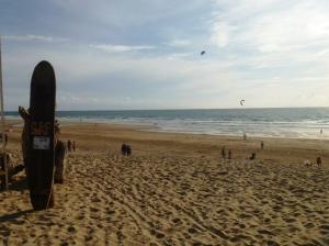 Strandabschnitt für Surfer und Kiter