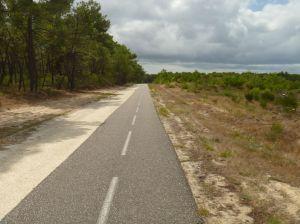 Der Fahrradweg ist phantastisch