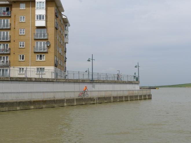 Der Kanal mündet in die Themse und die führt uns Richtung London.