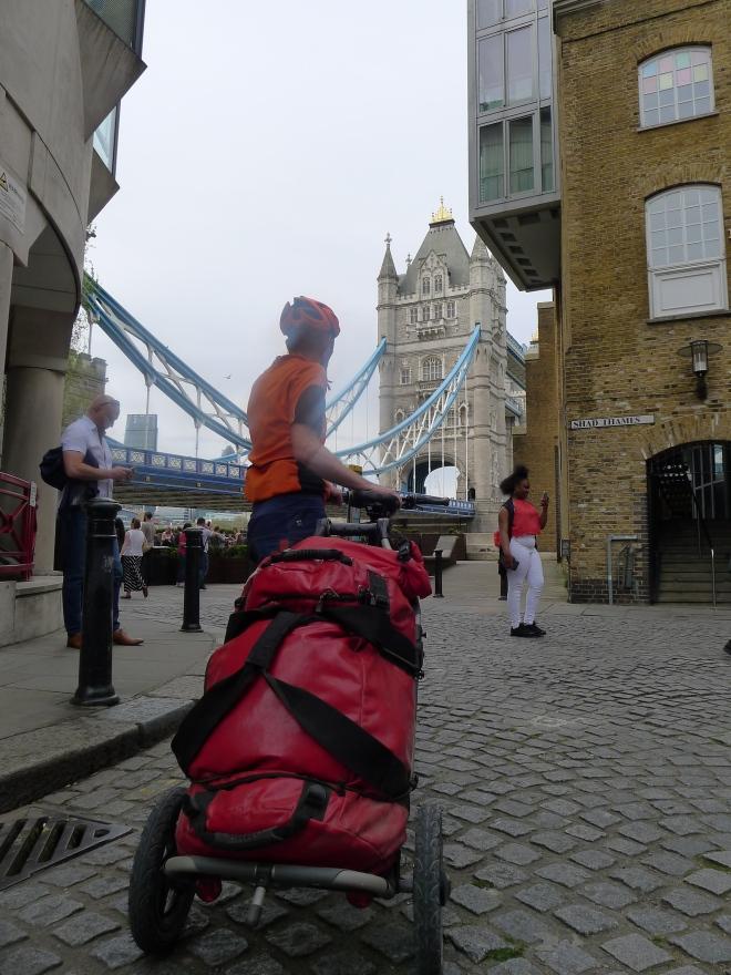 Ende der Ettape: Tower Bridge